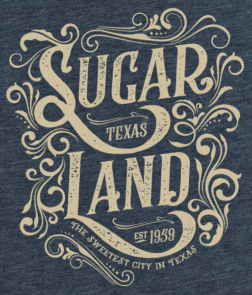 Western Sugar Land Tee - Heather Navy