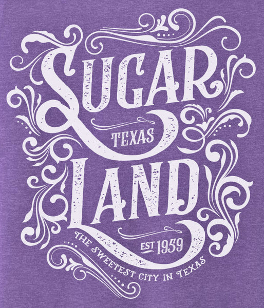 Western Sugar Land Tee - Heather Purple