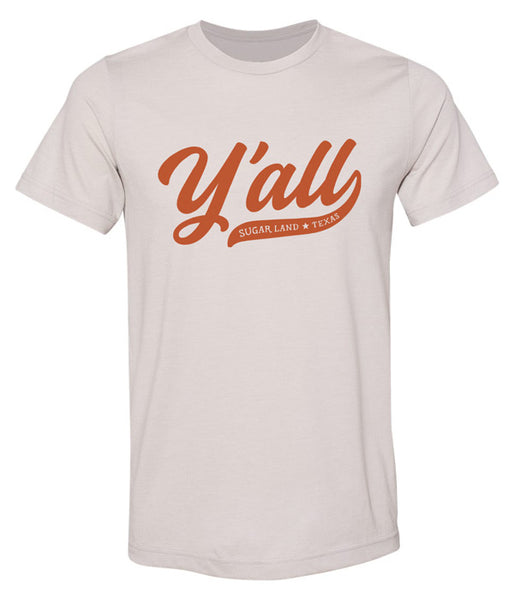 Y'all Sugar Land Tee - Gray