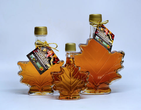 Vermont Maple Syrup - Glass Maple Leaf