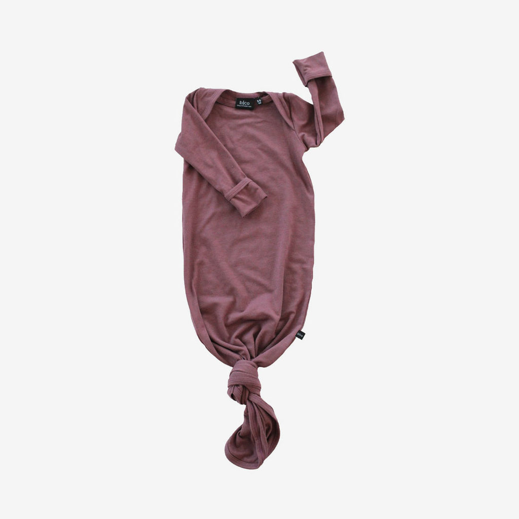 Bamboo Baby Sleeper Gown - Mauve