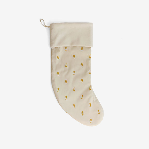 Christmas Stocking - Gold Trees