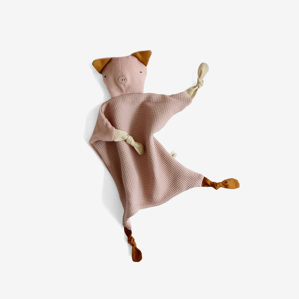 Organic Fleece Lovie - Piglet