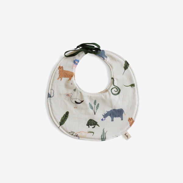 Organic Terry Baby Bib - Jungle Jazz
