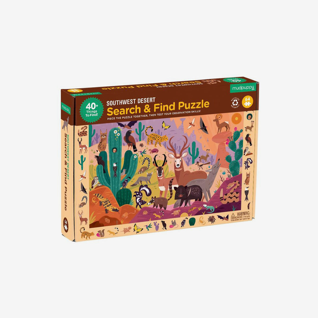 64-Piece Search & Find Puzzle - Southwest Desert