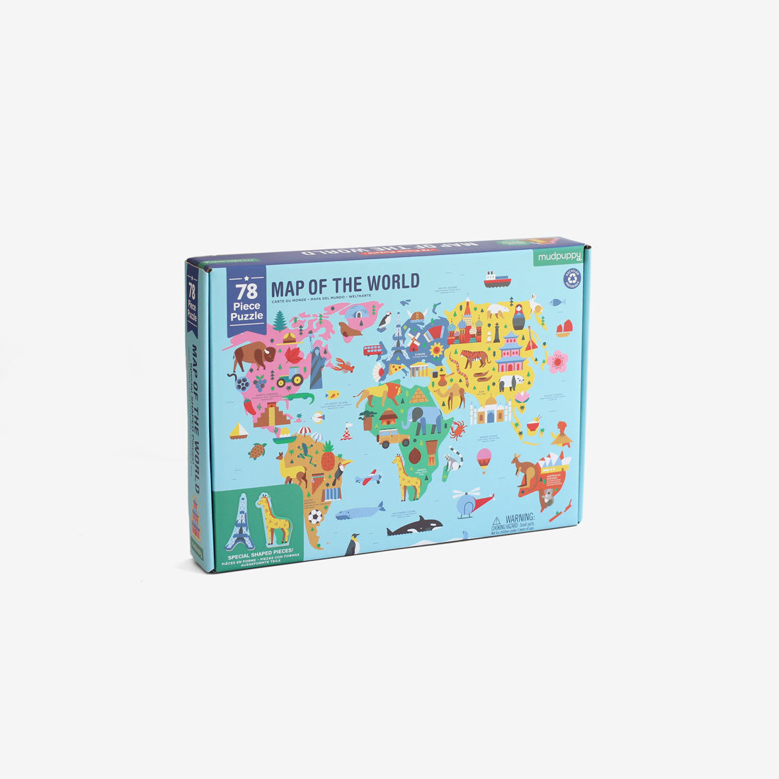 Map of the World - 78 piece Puzzle
