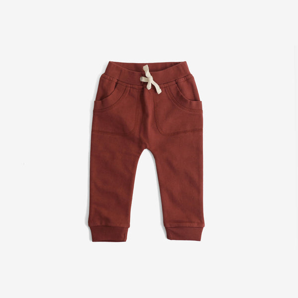Organic Fleece Sweat Pants - Russet