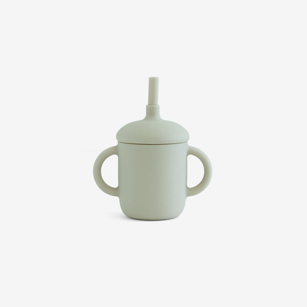 Silicone 2-Handle Straw Cup - Macaron