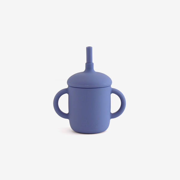 Silicone 2-Handle Straw Cup - Moon