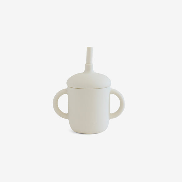 Silicone 2-Handle Straw Cup - Oatmilk