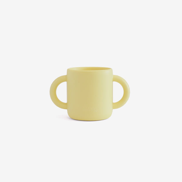 Silicone 2-Handle Training Cup - Custard