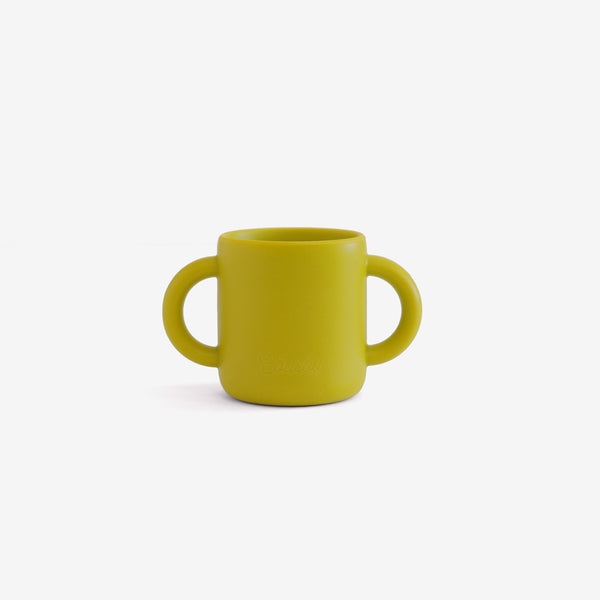 Silicone 2-Handle Training Cup - Olive