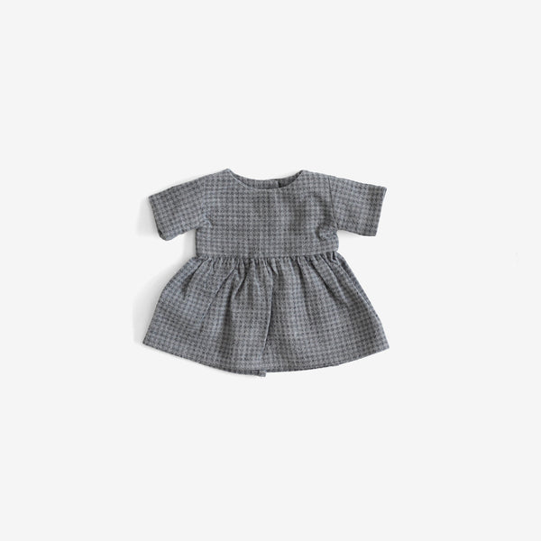 CozyMoss Animal Dress - Blue Gingham