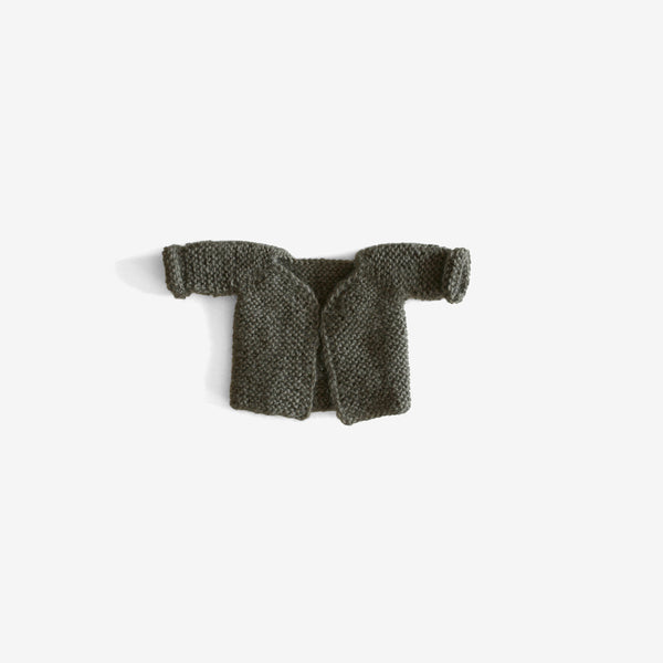 CozyMoss Animal Sweater - Olive Green Cardigan