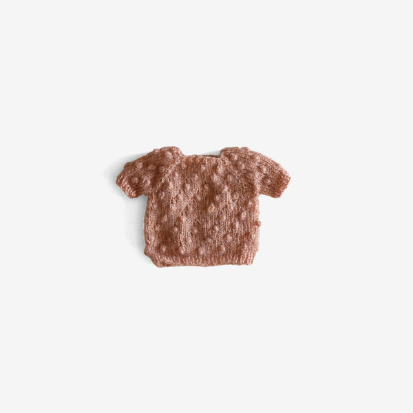 CozyMoss Animal Sweater - Salmon Popcorn Pullover