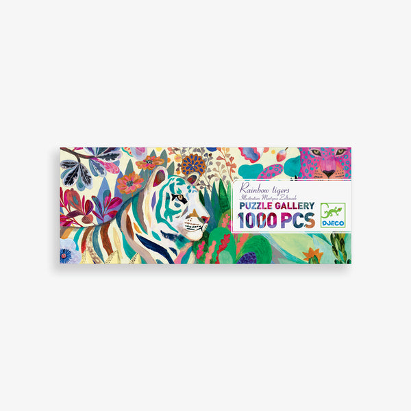 Gallery Puzzle - 1000-piece Rainbow Tigers