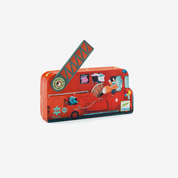 Mini 16-Piece Puzzle - Fire Truck