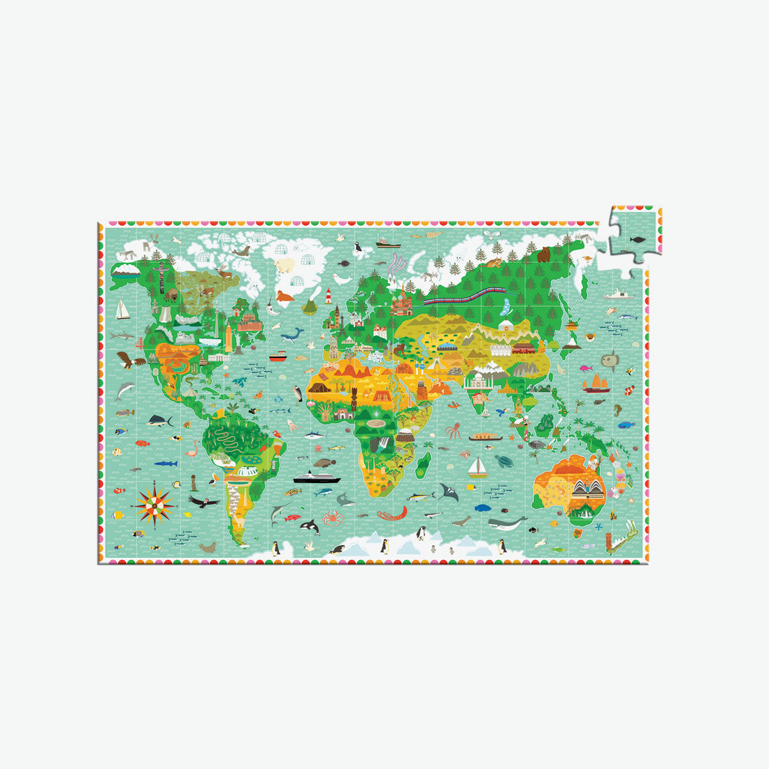 200-Piece Observation Puzzle - Around the World