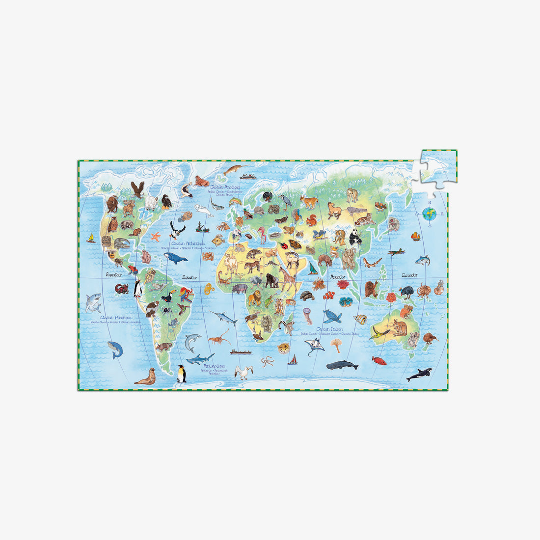 100-Piece Observation Puzzle - World Animals