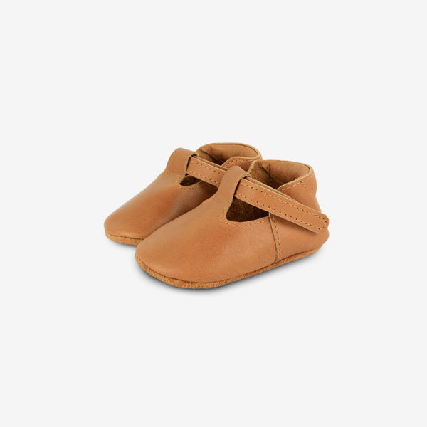 Elia Leather Baby Shoes - Camel