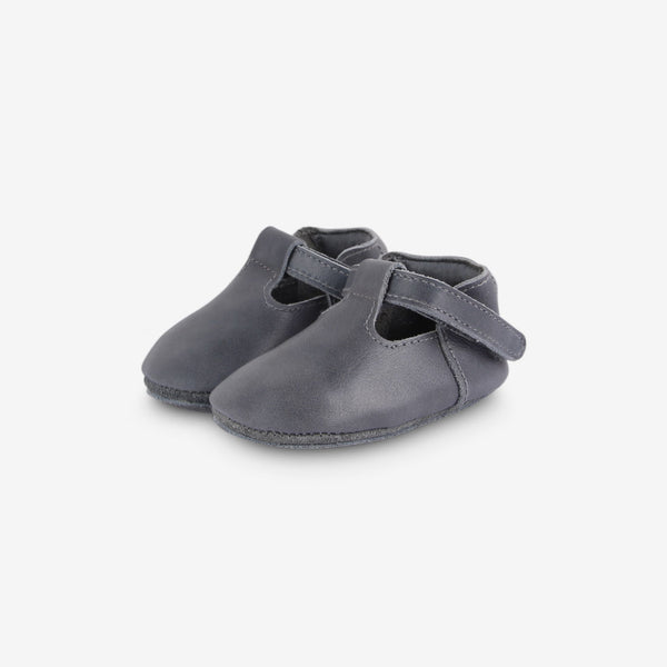Elia Leather Baby Shoes - Grey
