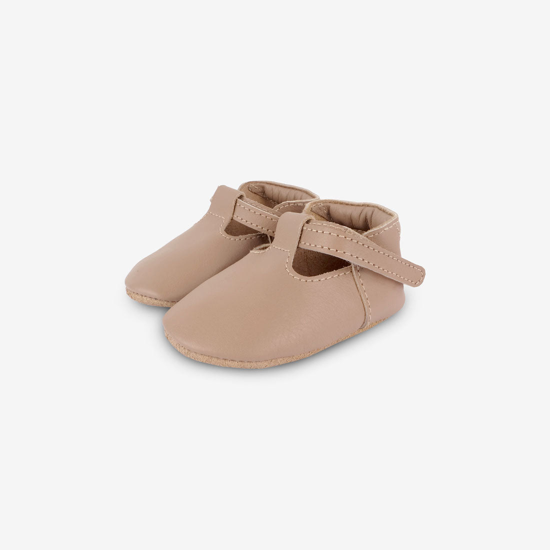Elia Leather Baby Shoes - Praline