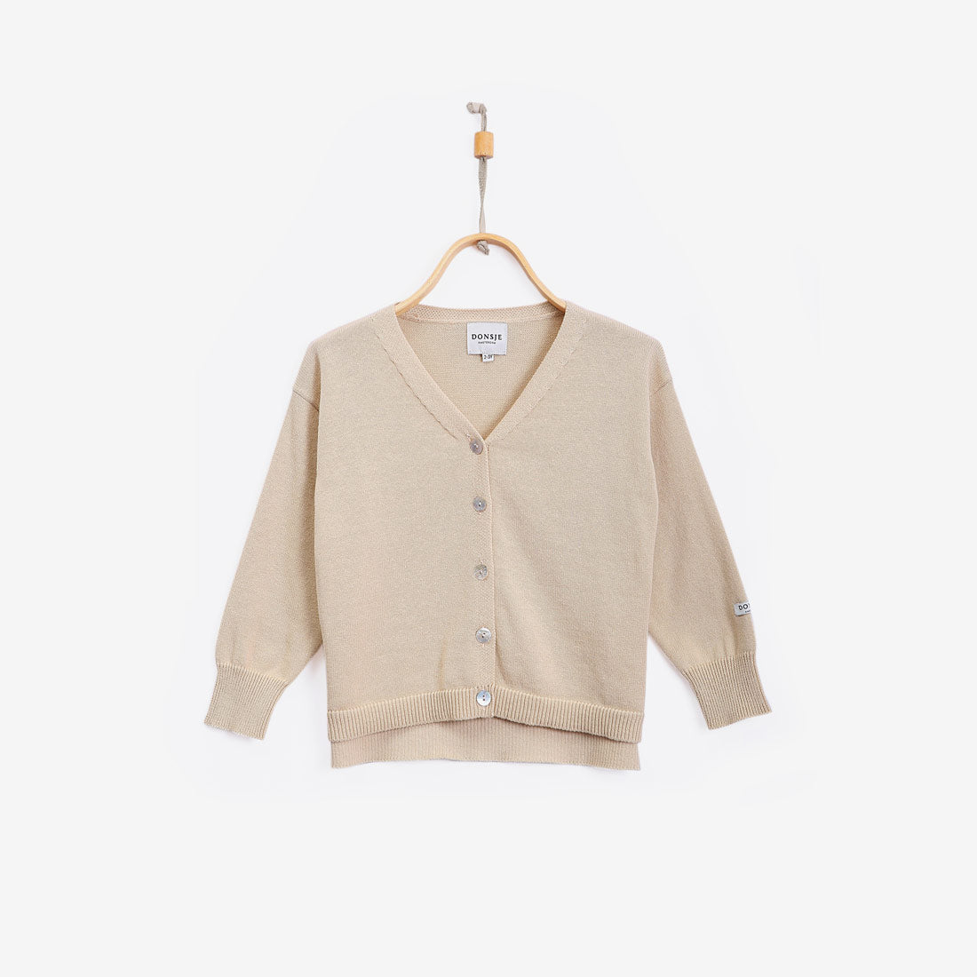Finn Cotton Cardigan - Oatmeal