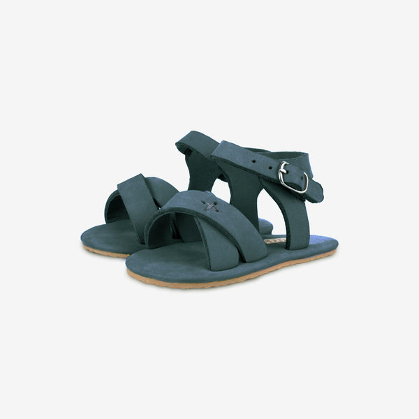 Giggles Leather Baby Sandals - Amazon Nubuck