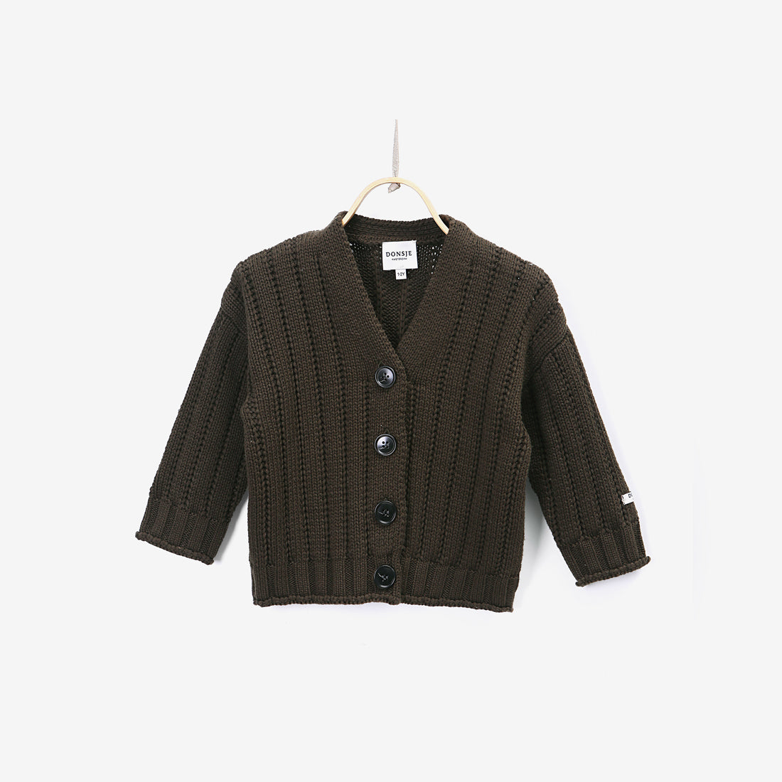 Gus Cotton Cardigan - Deep Forest