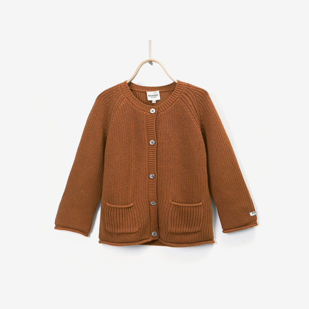Harper Cotton Cardigan - Gingerbread