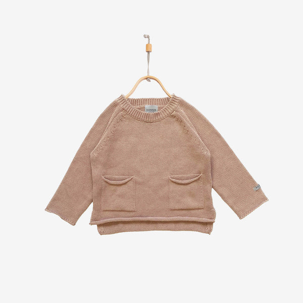 Stella Cotton Sweater - Pink Clay