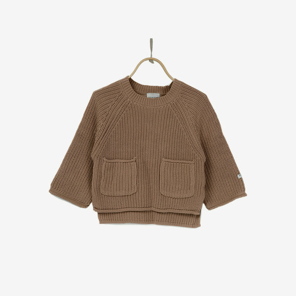 Stella Cotton Sweater - Warm Taupe