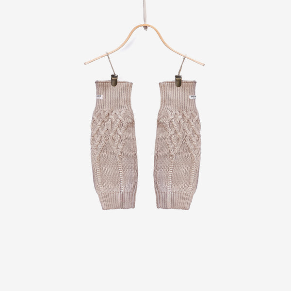 Suzi Cable-Knit Leg Warmers - Soft Sand