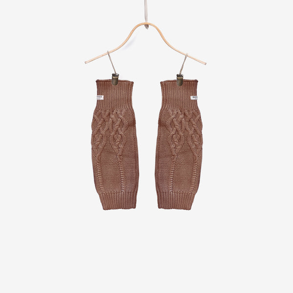 Suzi Cable-Knit Leg Warmers - Warm Taupe