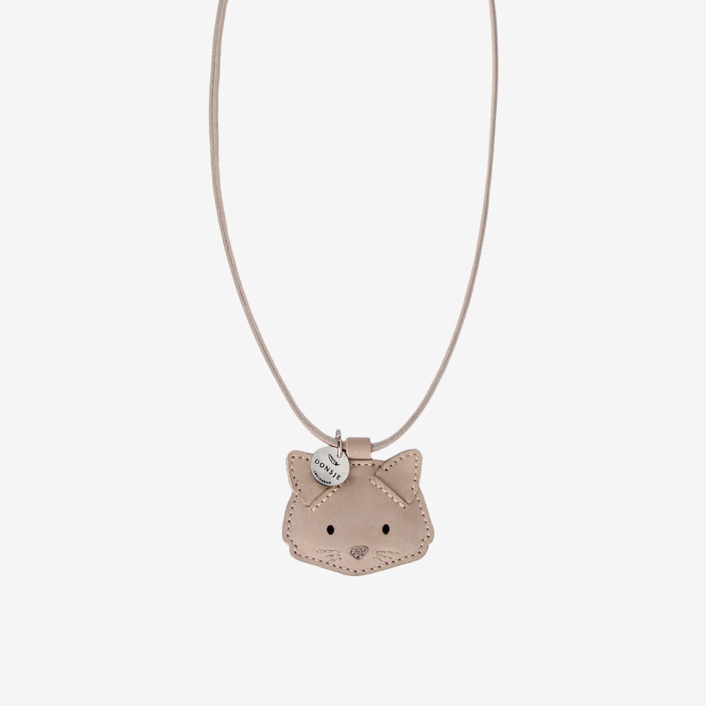 WOOKIE Leather Necklace - Kitty Cat