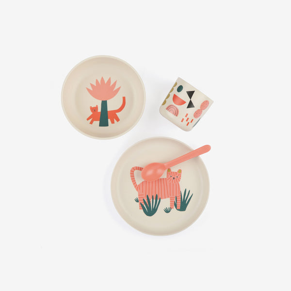 Ekobo Bamboo Kid's Dinner Set - Tiger