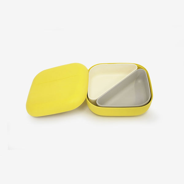 Go Square Bamboo Bento Box - Lemon