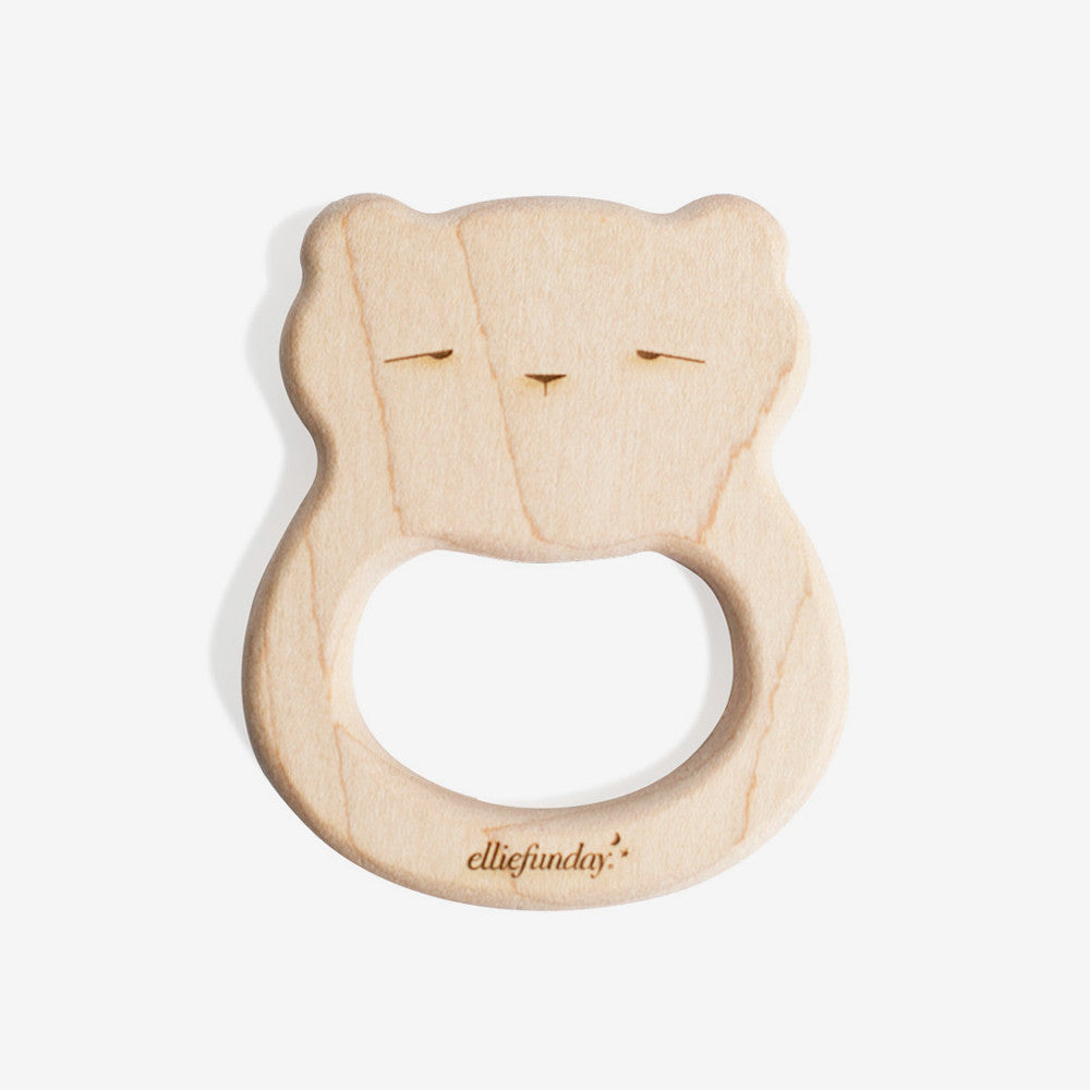 Hardwood Maple Teether - Bear