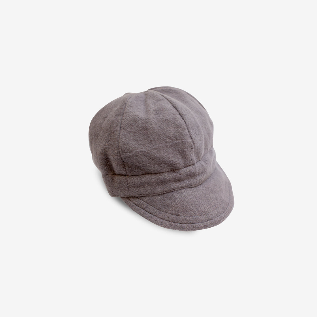 Flannel Newsboy Cap - Gray