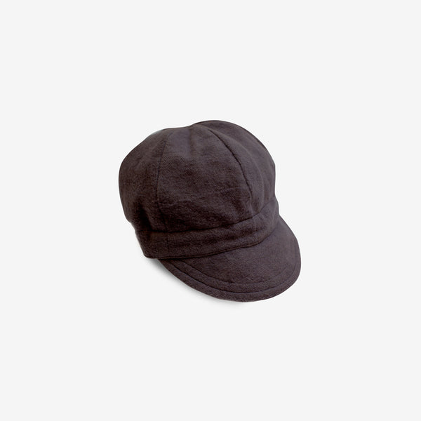 Flannel Newsboy Cap - Black