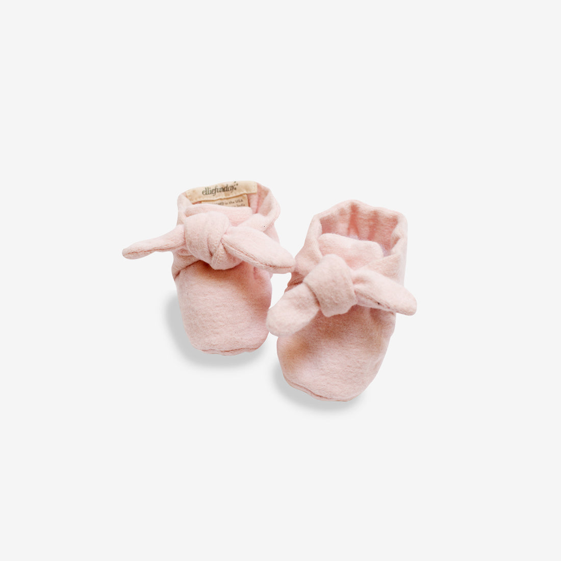 Organic Flannel Knotted Booties - Pink
