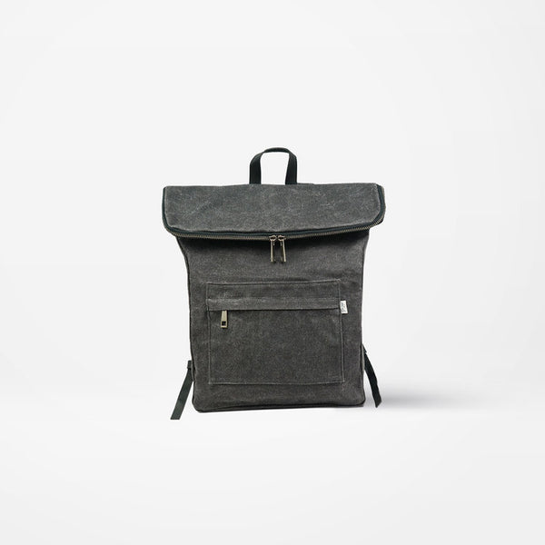 Waxed Cotton Canvas Backpack - Noha