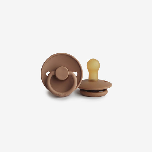 FRIGG Natural Rubber Pacifier - Peach Bronze