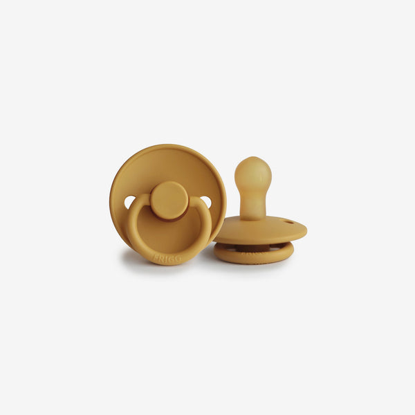 FRIGG Natural Rubber Pacifier - Honey Gold