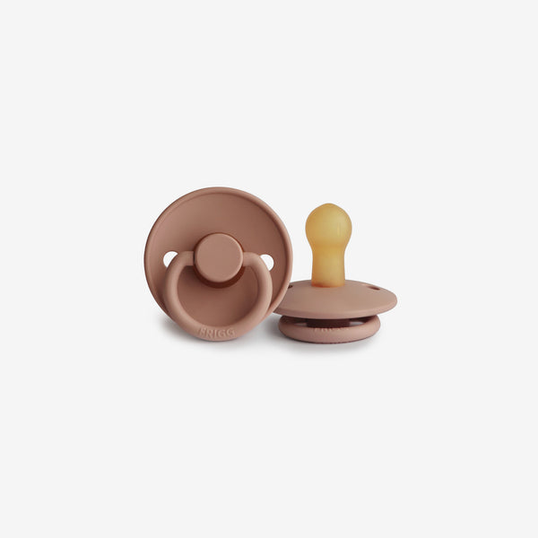 FRIGG Natural Rubber Pacifier - Rose Gold