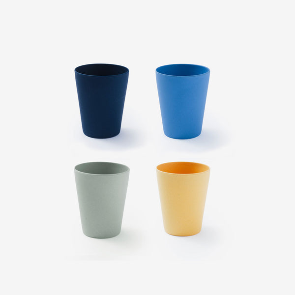 "Fable Bamboo 3.5"" Cup 4Pack - Multi Blues"