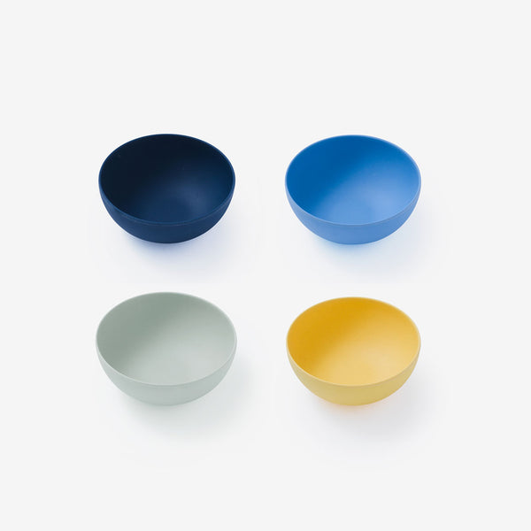 "Fable Bamboo 5.5"" Cereal Bowl 4Pack - Multi Blues"