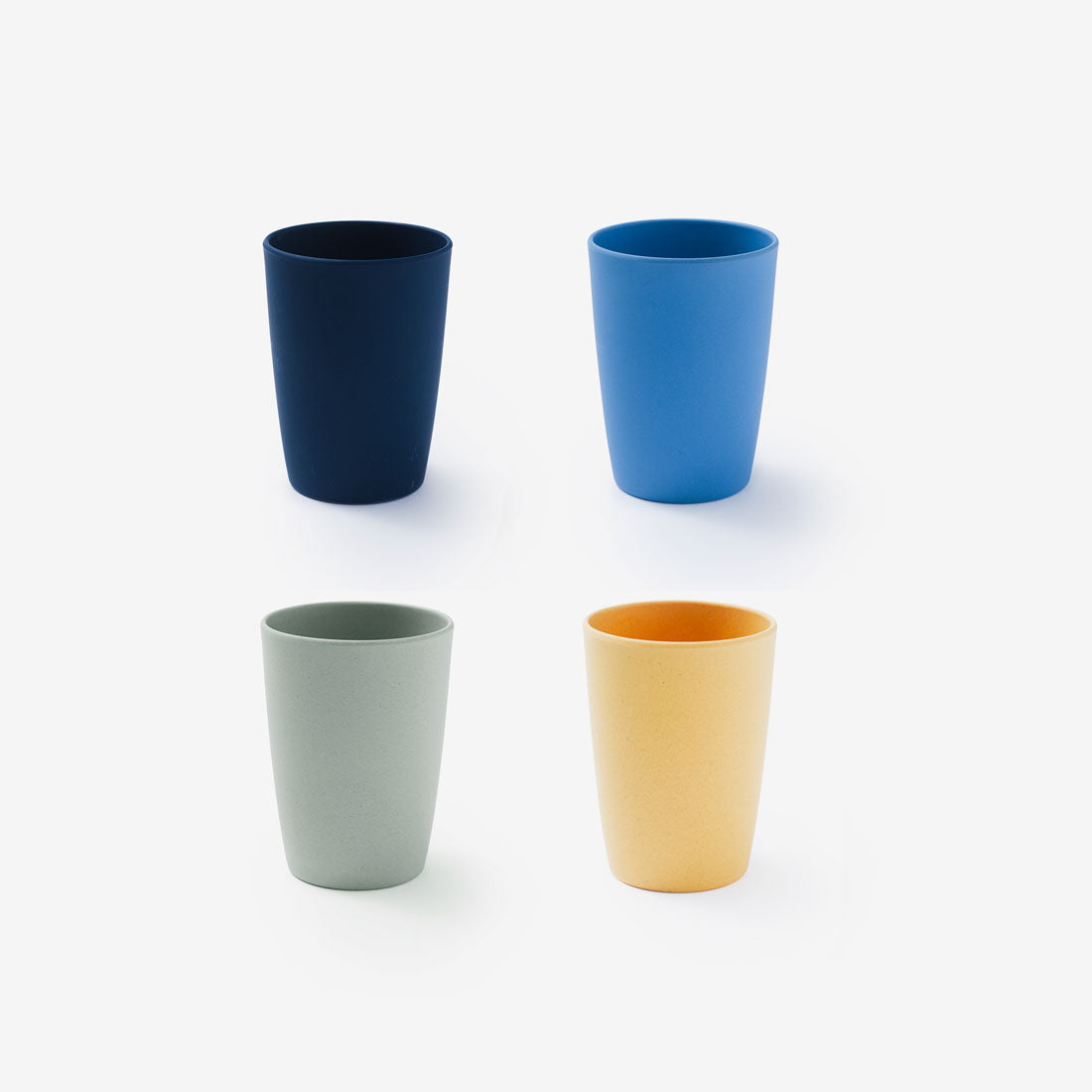 "Fable Bamboo 4.5"" Cup 4Pack - Multi Blues"