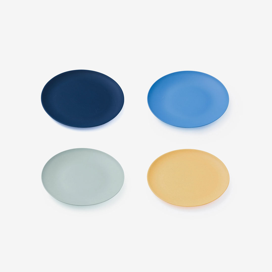 "Fable Bamboo 8"" Plate 4Pack - Multi Blues"
