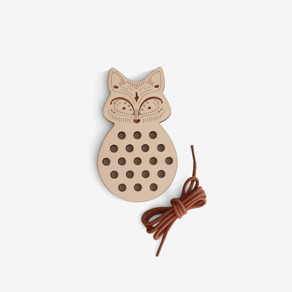 Wooden Lacing Toy - Fox